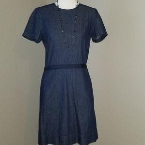 Gap Denim Sheath Dress Short Sleeves